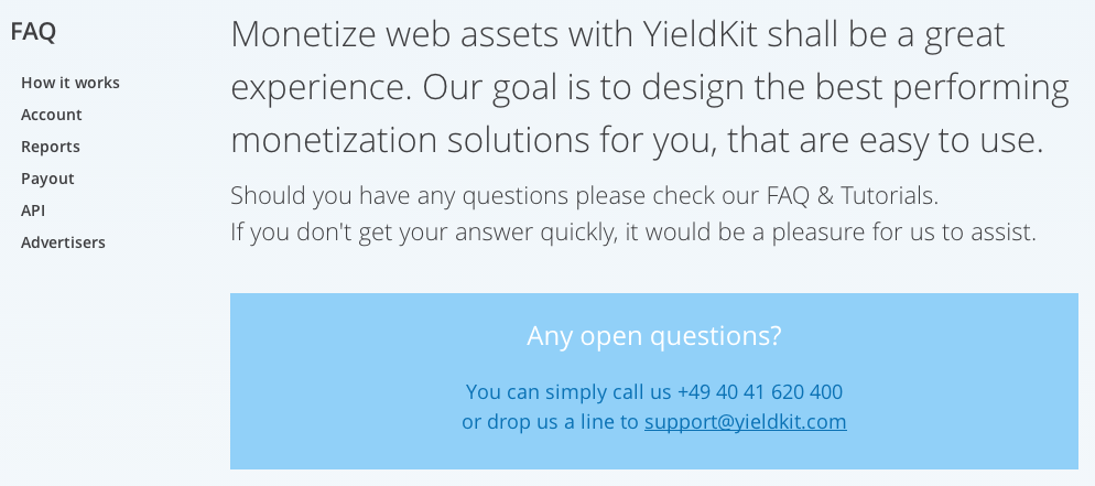 YieldKit FAQ Page